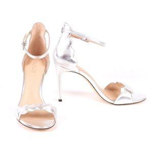 "NWT Rachel Zoe ""Ava"" silver stiletto sandal size 9"